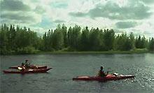 fiume di Rovaniemi